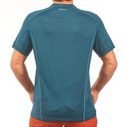 Tee Shirt de randonnée montagne MH500 manches courtes homme bleu
