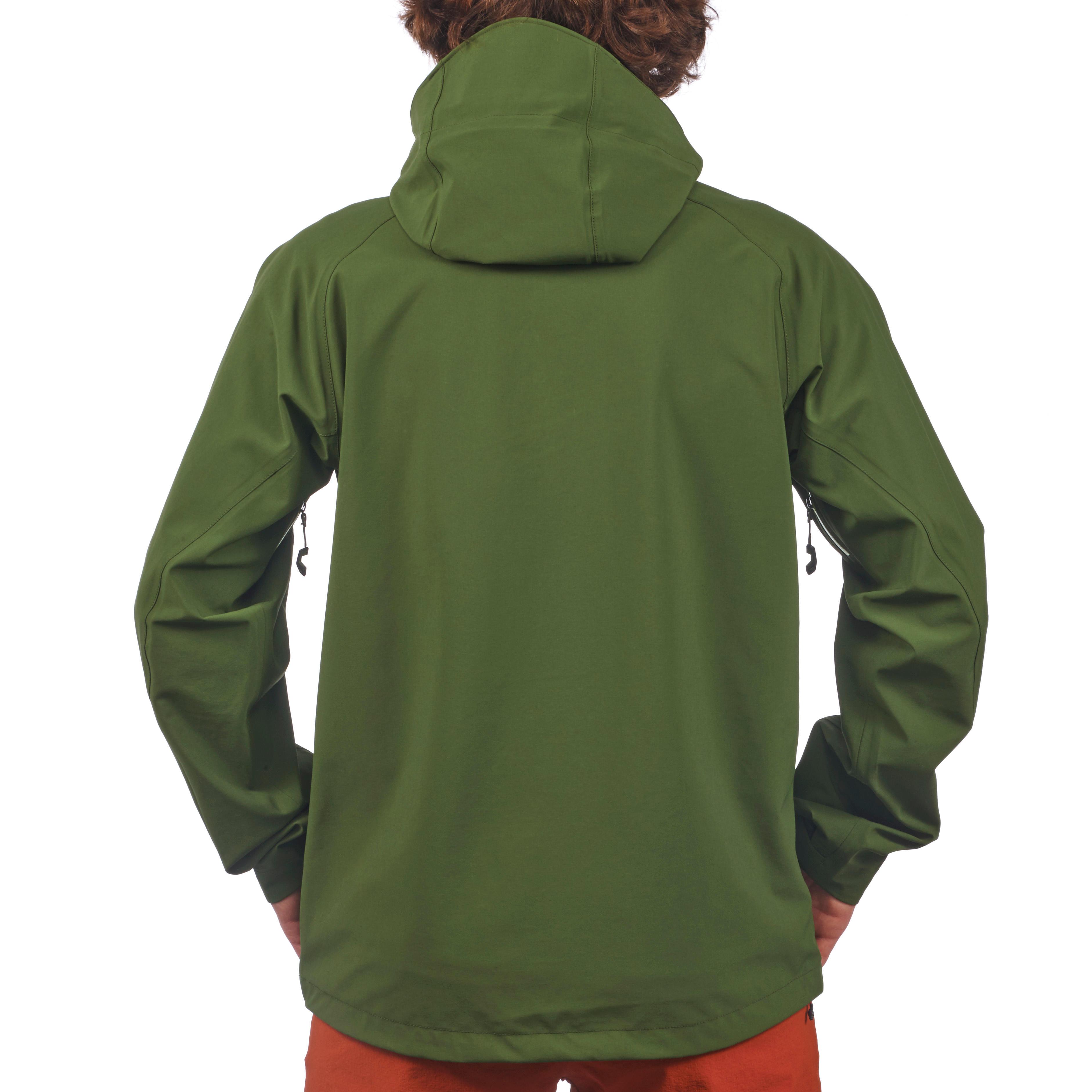 Veste pluie randonnée montagne  MH500 imperméable homme Vert