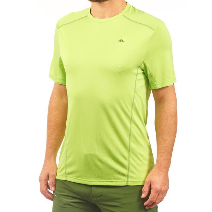Heren T-shirt met korte mouwen voor bergwandelen MH500 groen