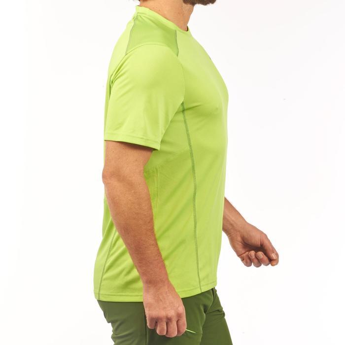 Camiseta de senderismo montaña MH500 manga corta hombre verde