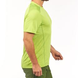 Wandelshirt voor bergtochten MH500 heren korte mouwen groen