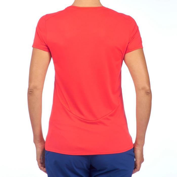 Wandel T-shirt met korte mouwen voor dames MH 100 oranjerood