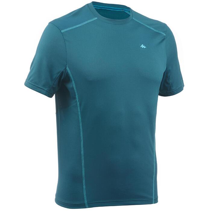 Camiseta de senderismo montaña MH500 manga corta hombre azul