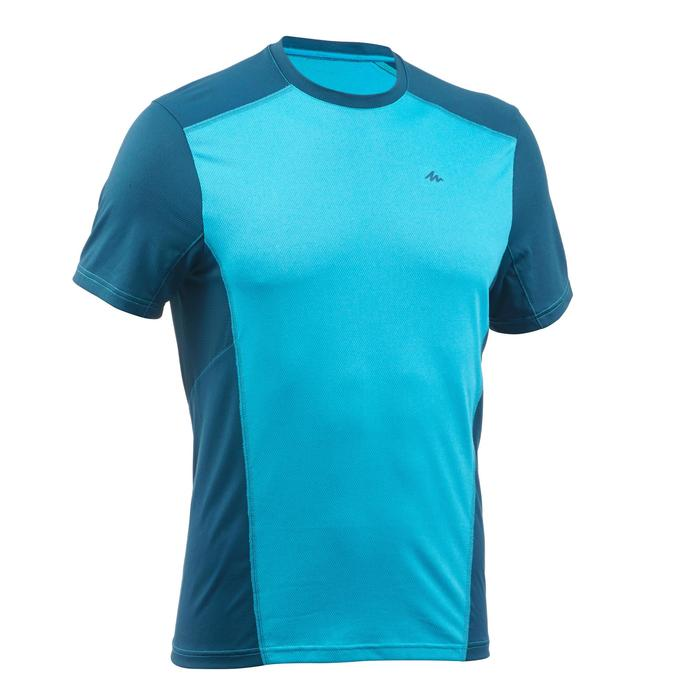 Camiseta de senderismo en montaña MH500 de manga corta hombre azulón