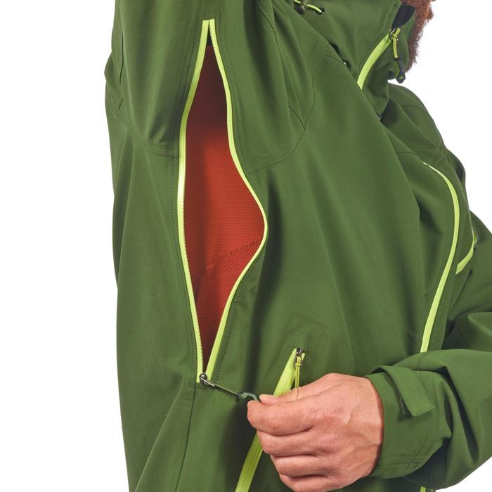 Chaqueta lluvia Senderismo en la montaña MH500 impermeable hombre Verde