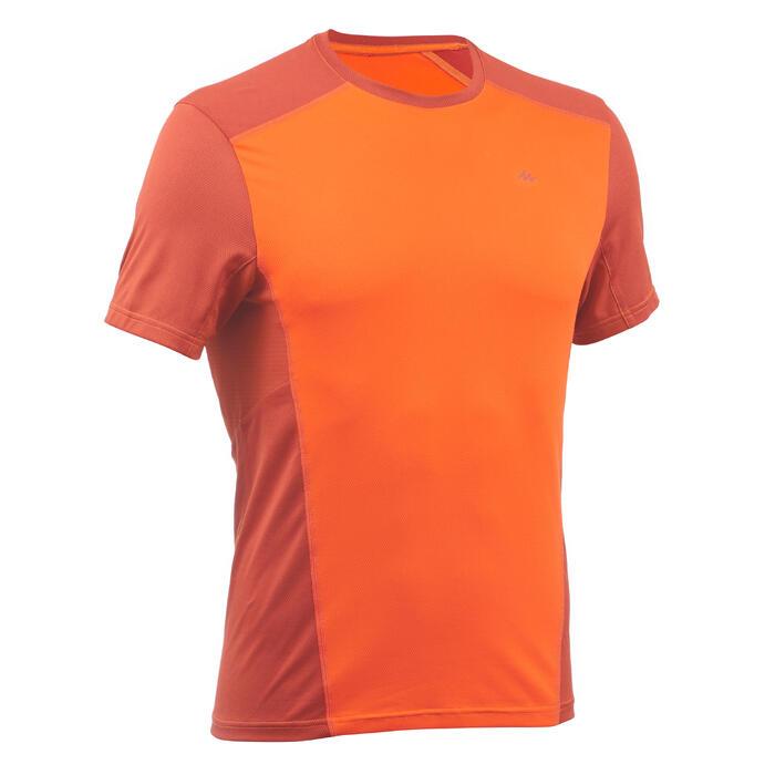 Tee Shirt Randonnée montagne MH500 manches courtes homme Brique Orange