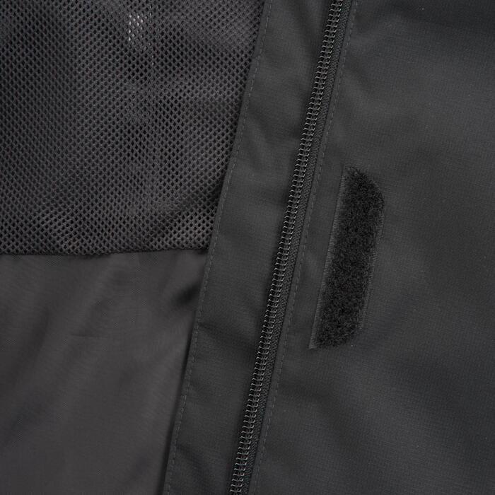 Veste de pluie imperméable pour la randonnée en montagne MH100 Femme Noir