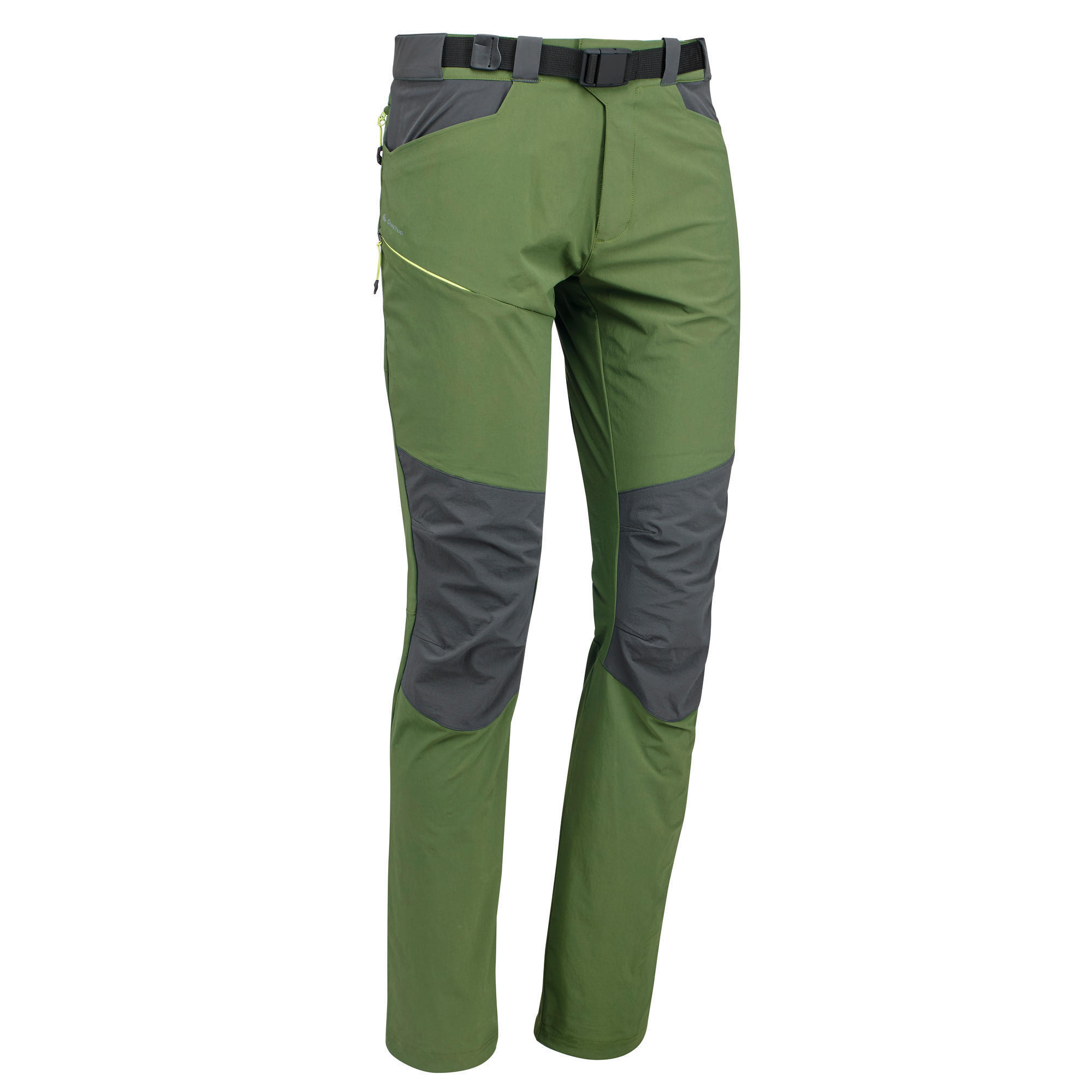 Mh500 Men S Mountain Hiking Trousers Green Quechua