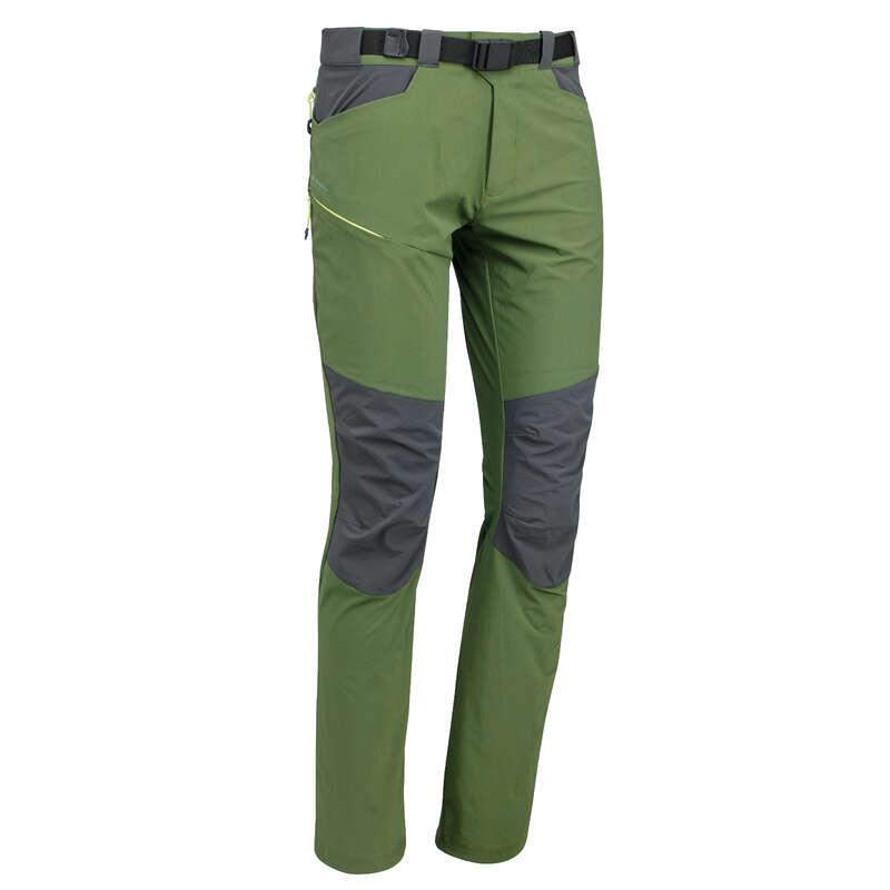 MEN MOUNTAIN HIKING TEE SHIRTS, PANTS - MH500 Trousers - Green QUECHUA