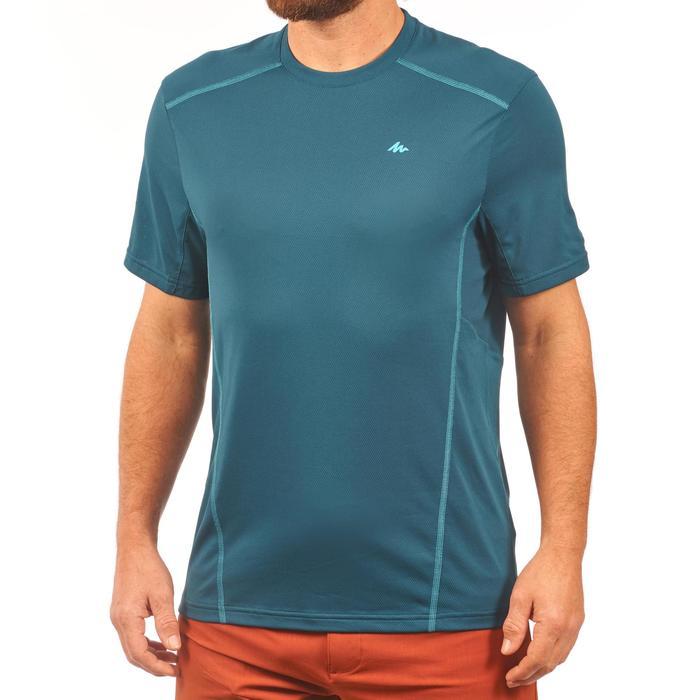 Heren T-shirt met korte mouwen voor bergtrekking MH 500 blauw