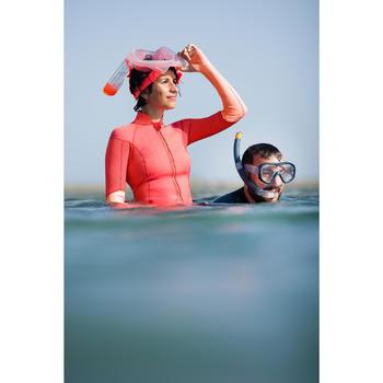 Top néoprène de snorkeling 1,5mm SNK 900 femme rose
