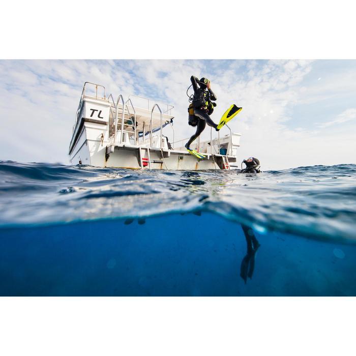 Masque de plongée sous-marine en bouteille SCD500 jupe bleue cerclage - 1269503