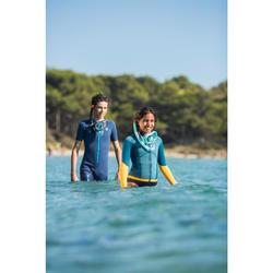 Snorkeltop neopreen 1,5 mm 900 kinderen blauw geel