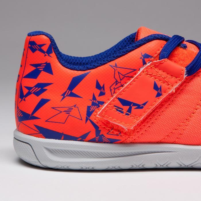 Chaussure de futsal enfant CLR 500 à scratch bleue - 1269545