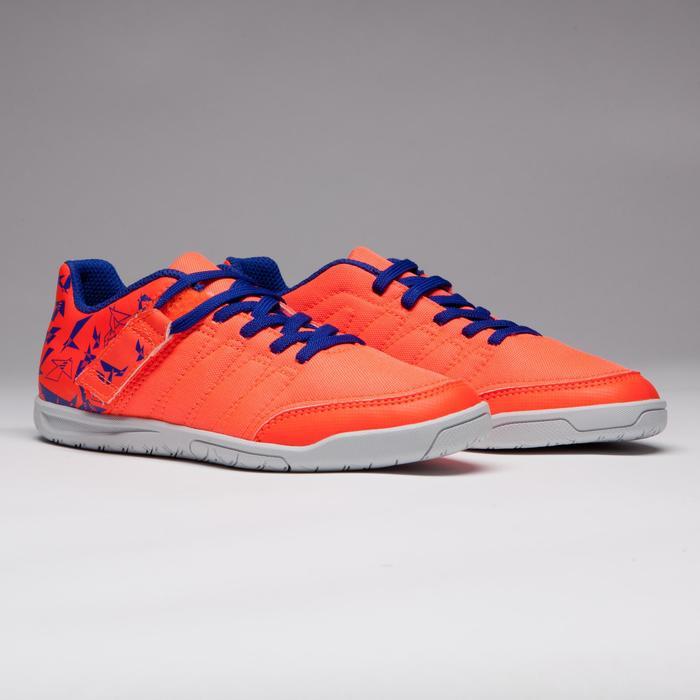 Chaussure de futsal enfant CLR 500 à scratch bleue - 1269549