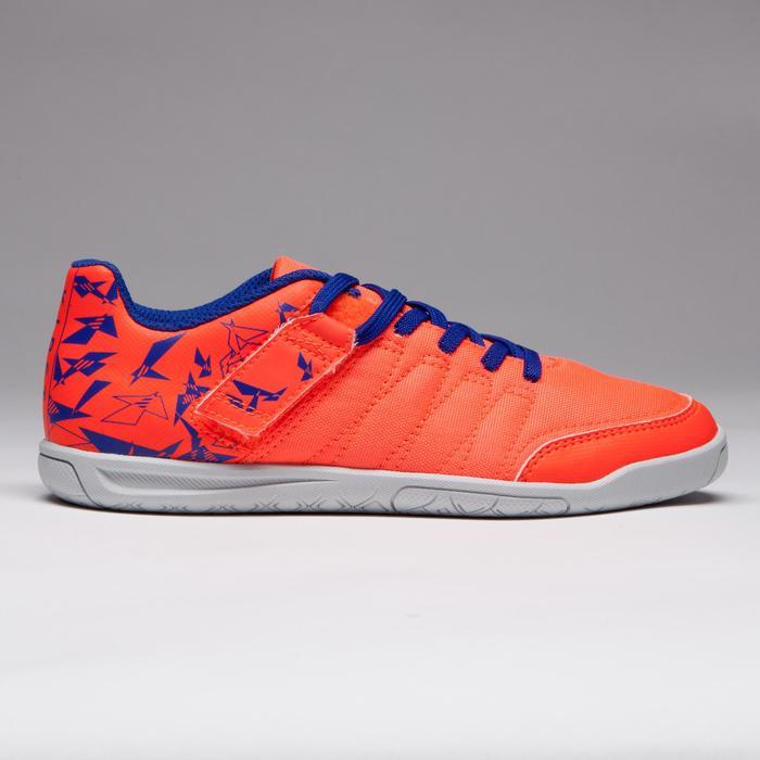 Chaussure de futsal enfant CLR 500 à scratch bleue - 1269551