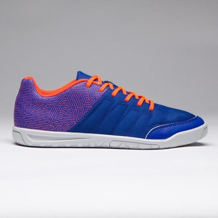 Chaussure de futsal enfant CLR 500 à scratch bleue - 1269556