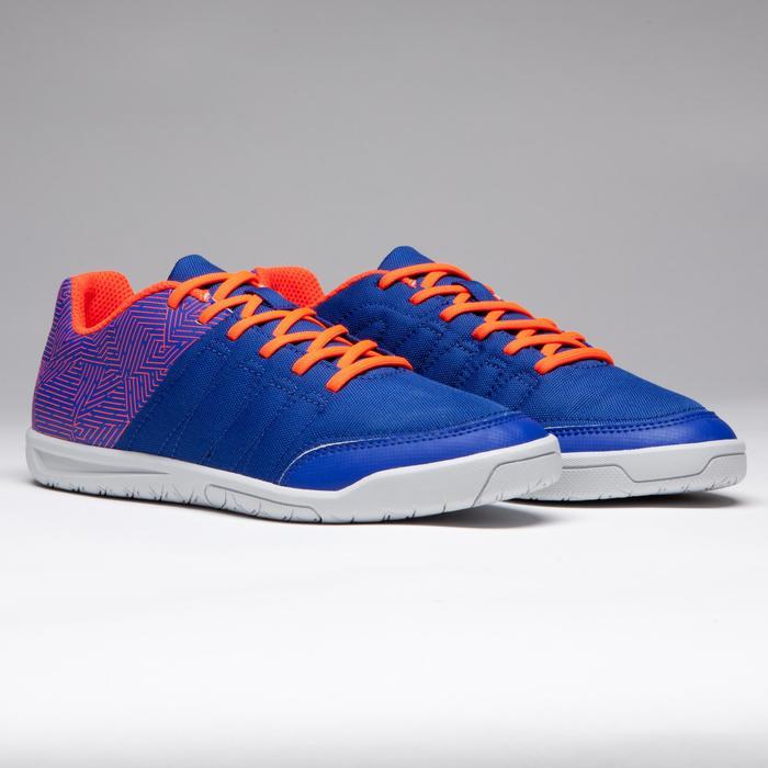 Chaussure de futsal enfant CLR 500 à scratch bleue - 1269557