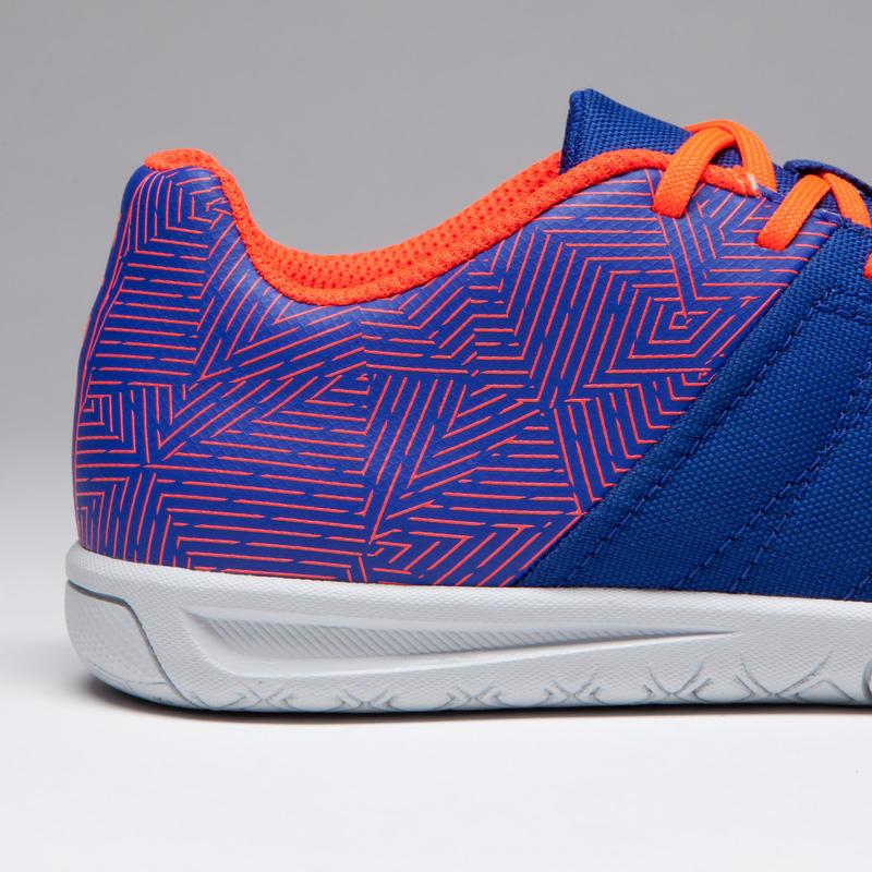 989904873 CLR 500 Kids Futsal Boots - Blue Orange