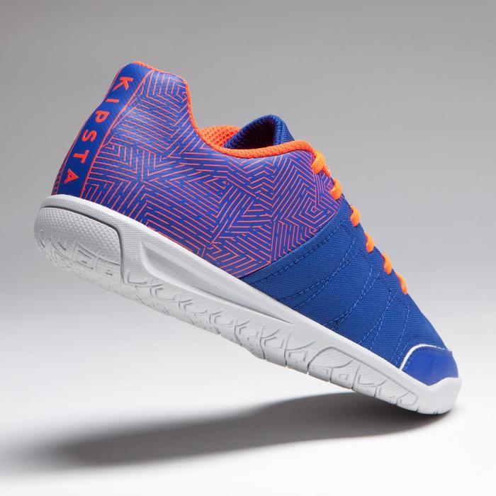 Chaussure de futsal enfant CLR 500 à scratch bleue - 1269560