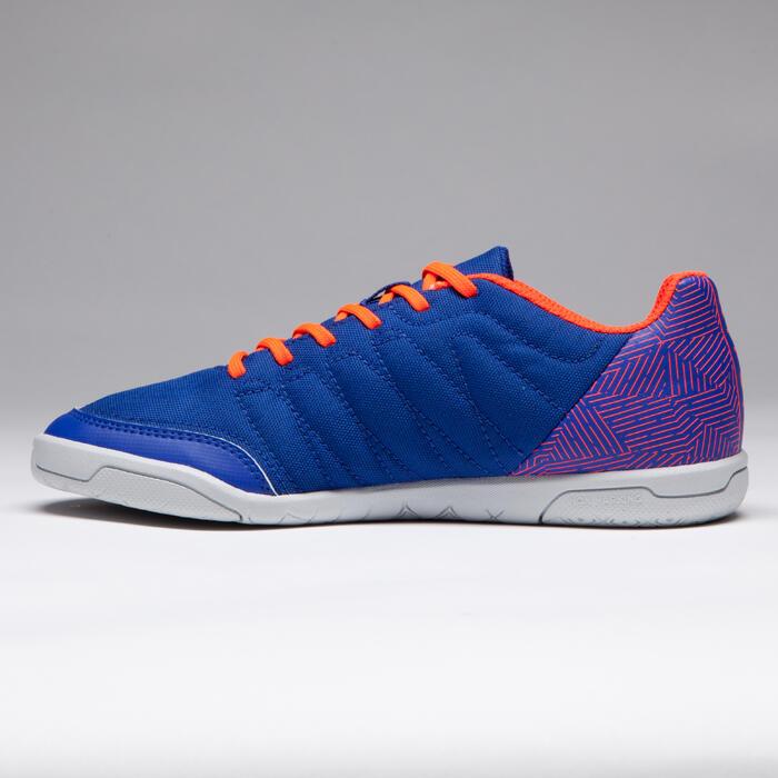Chaussure de futsal enfant CLR 500 à scratch bleue - 1269563