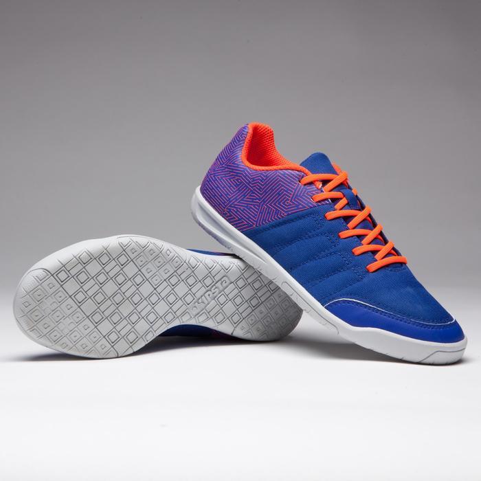 Chaussure de futsal enfant CLR 500 à scratch bleue - 1269564