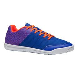 Zaalvoetbalschoenen kind CLR 500 sala blauw/oranje