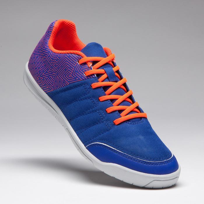 Chaussure de futsal enfant CLR 500 à scratch bleue - 1269566