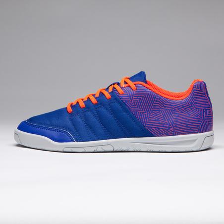Chaussure de futsal enfant CLR 500 bleue orange