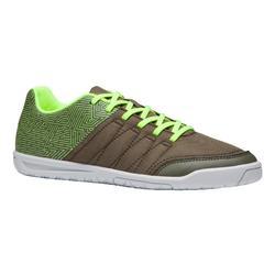 Zapatillas de fútbol sala para niño CLR 500 caqui amarillo