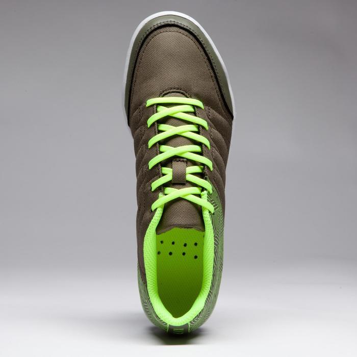 Chaussure de futsal enfant CLR 500 kaki jaune