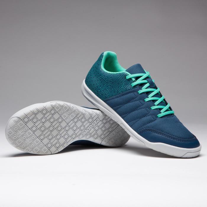 Chaussure de futsal enfant CLR 500 à scratch bleue - 1269595
