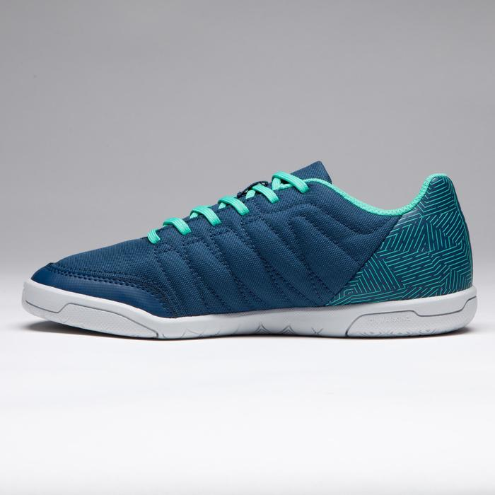 CLR 500 Kids' Futsal Trainers - Blue/Green