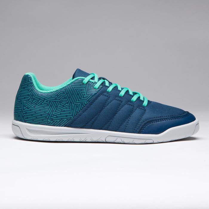 Chaussure de futsal enfant CLR 500 à scratch bleue - 1269599