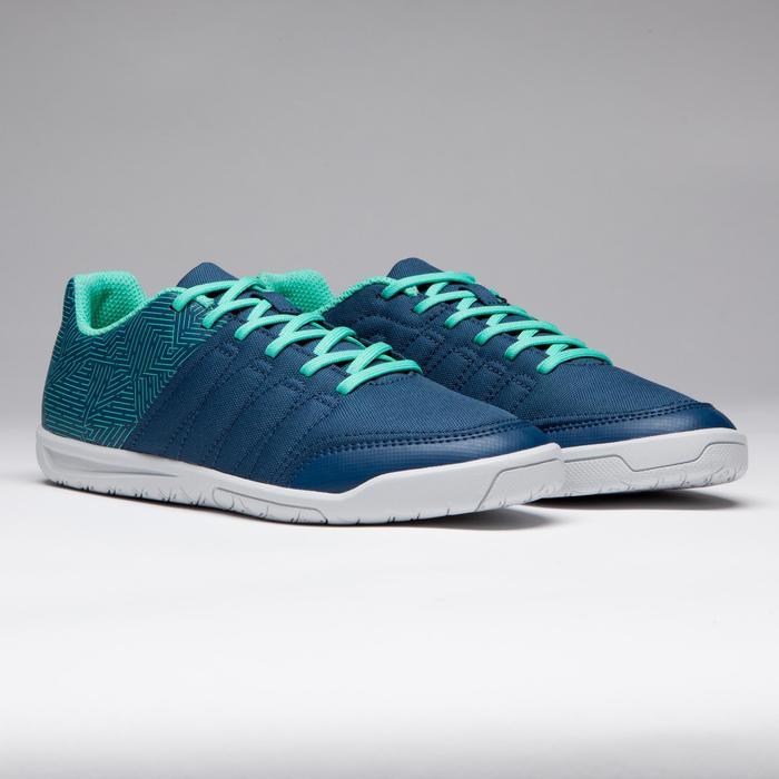 Chaussure de futsal enfant CLR 500 à scratch bleue - 1269600