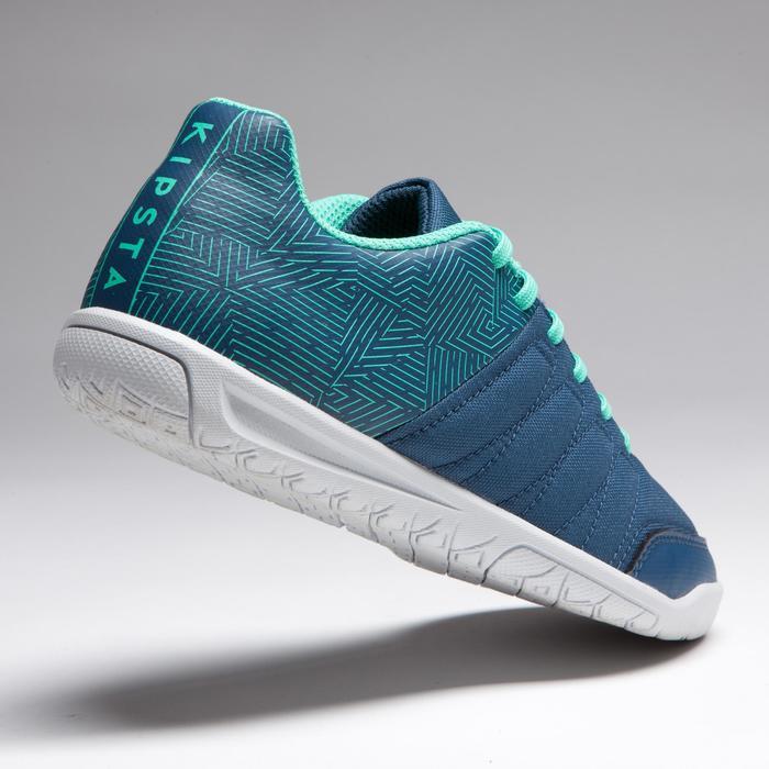 Chaussure de futsal enfant CLR 500 à scratch bleue - 1269601
