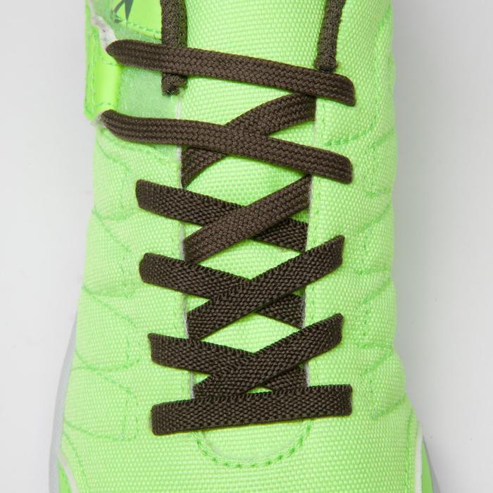 Chaussure de futsal enfant CLR 500 à scratch jaune kaki