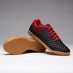 Hallenschuhe Futsal Fußball Agility 100 Kinder schwarz/rot