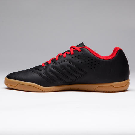 Agility 500 Kids Futsal Shoes - Black/Red
