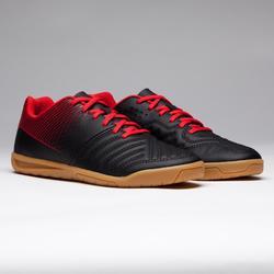 Zapatillas de Fútbol Sala Kipsta Agility 100 niños negro rojo