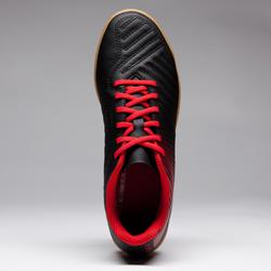 Chaussure de futsal enfant Agility 100 noire rouge