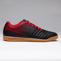 Chaussure de futsal enfant Agilité 100 noire rouge