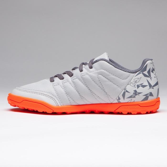 Chaussure de football enfant terrain dur Agility 300 HG grise orange