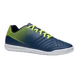Zapatillas de fútbol sala júnior Agility 100 azul amarillo
