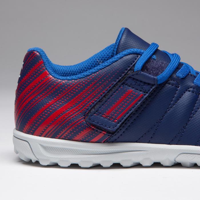 Chaussure de football enfant terrains durs Agility  300 HG à scratch bleue - 1269718