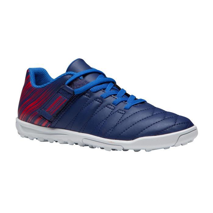 Chaussure de football enfant terrains durs Agility  300 HG à scratch bleue - 1269722