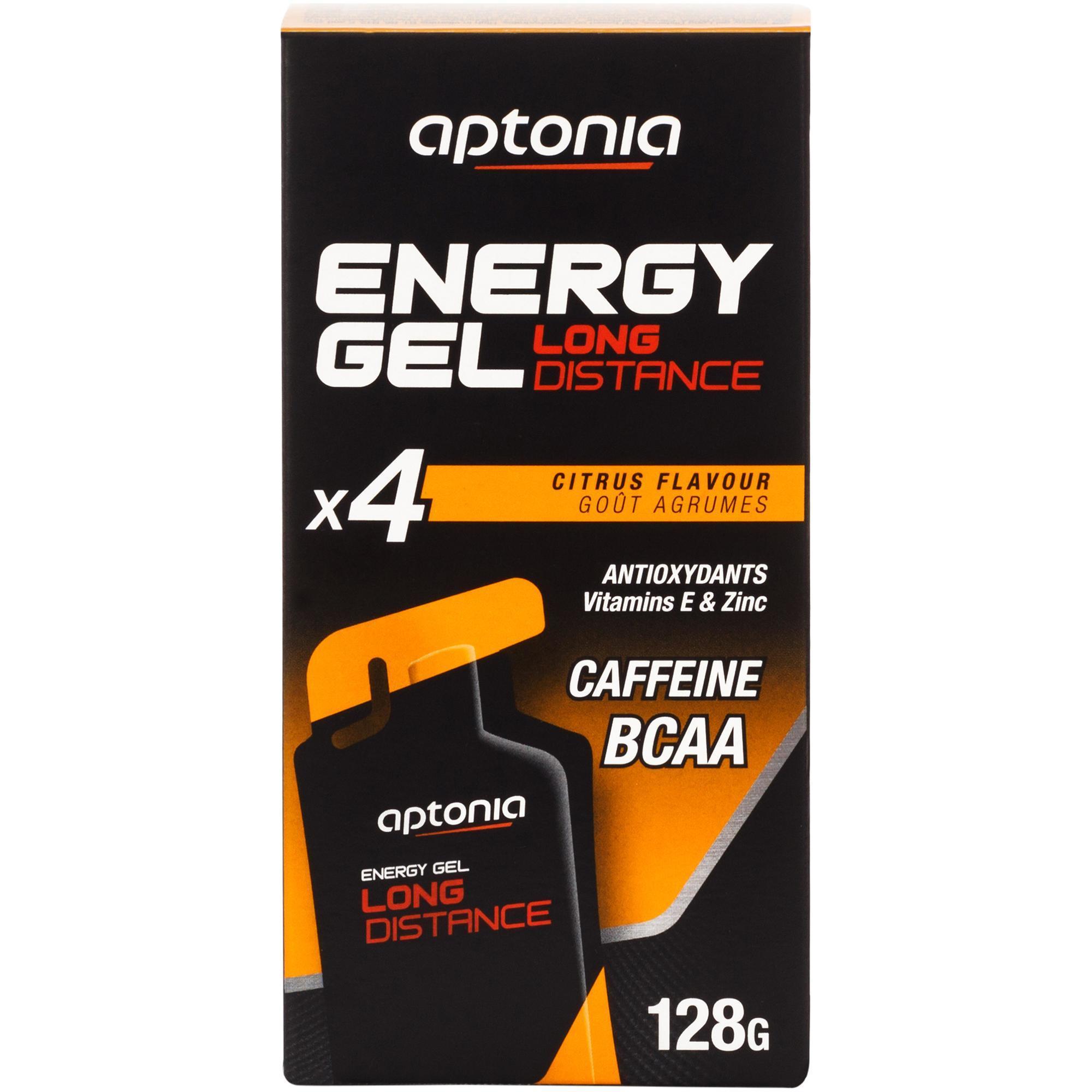 Aptonia Energiegel Long Distance citrusvruchten 4x 32 g