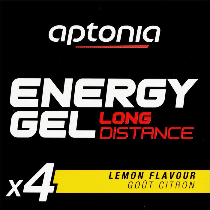Gel énergétique ENERGY GEL LONG DISTANCE citron 4 x 32g