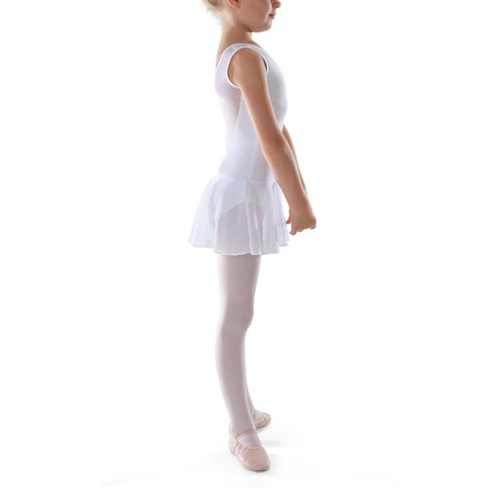 Túnica de danza clásica en dos materias niña blanco