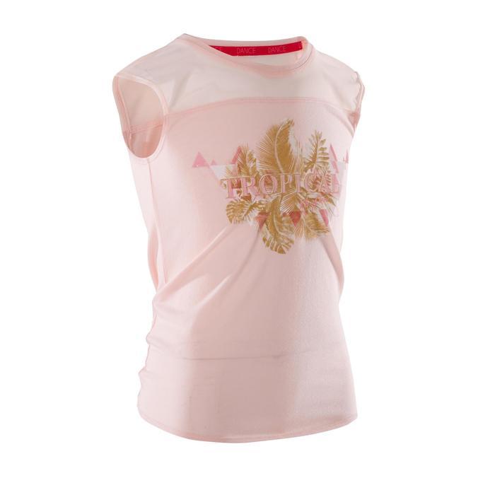 T-shirt manches courtes de danse fille rose pâle - 1270006